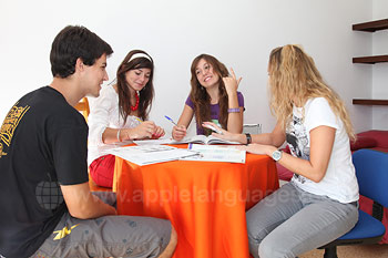 Studying in the shared apartment