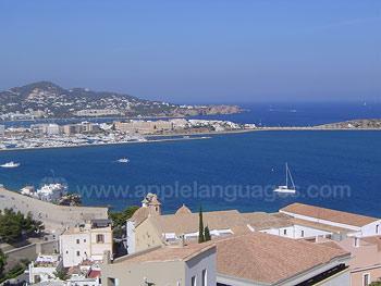 View over Ibiza