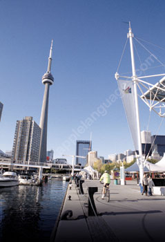 The famous CN Tower in Toronto