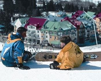 Students snowboarding at Mt. Tremblant