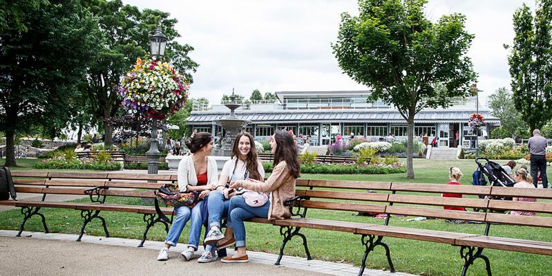 Besuch eines Parks in Dublin
