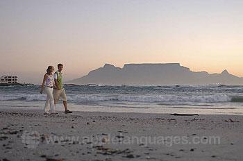 Walking along the beach