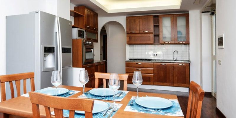 Küche in einer Wohngemeinschaft