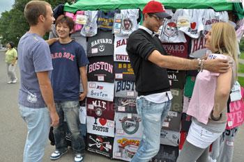 Buying a souvenir