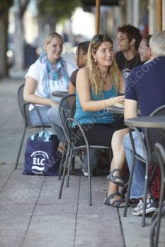 Café life in Los Angeles