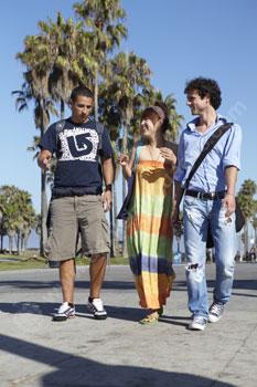 Students exploring Venice Beach