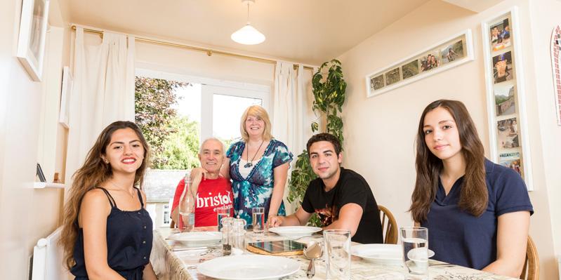 Freundliche Gastfamilie