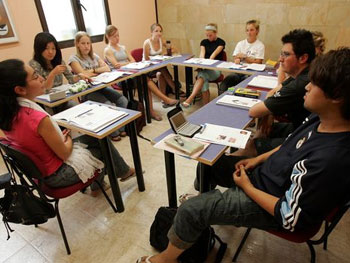Schüler in der Klasse