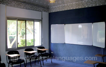 One of the spacious classrooms