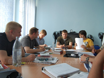 Russian class at our school