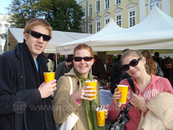 Students exploring Kiev