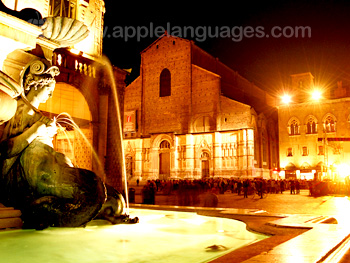 Piazza Maggiore at night