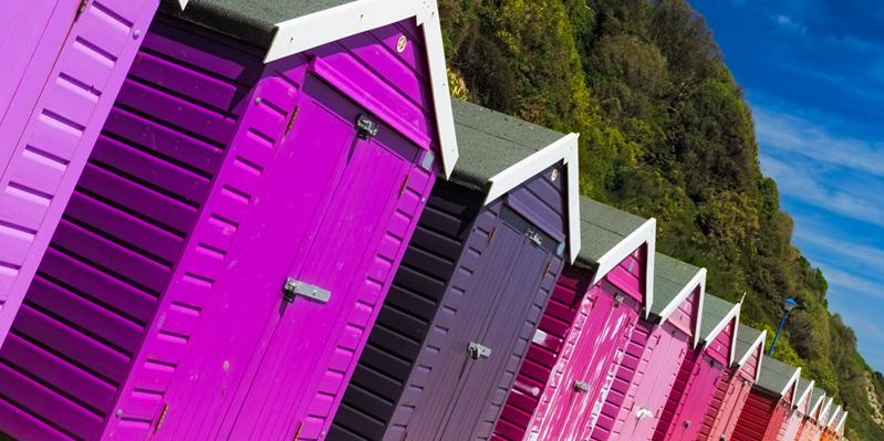 Bournemouths Strandhütten