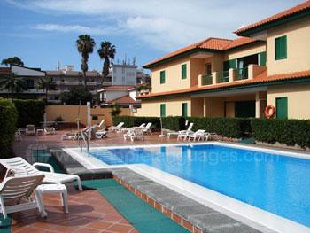 Unterkunft im Apartment mit Pool