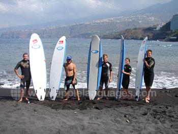 Spanisch lernen und Surfen