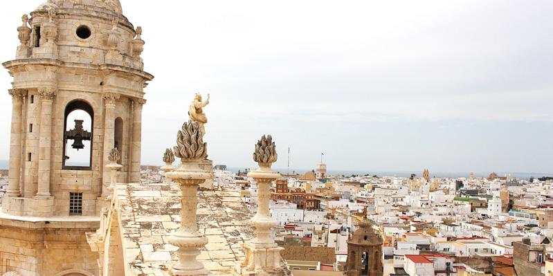 Ausblick in Cadiz