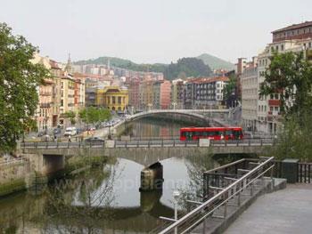 The river in Bilbao