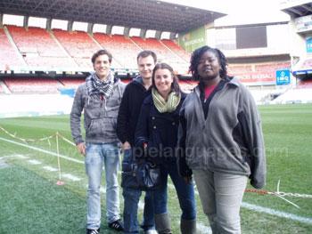 Visit to football stadium