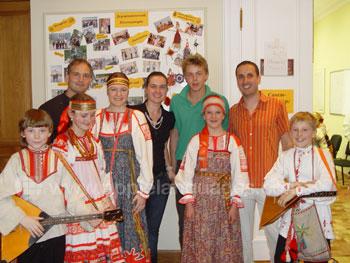 Vorführung russischer Volksmusik an unserer Schule