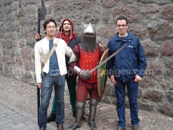 Schüler treffen einige mittelalterliche Russen