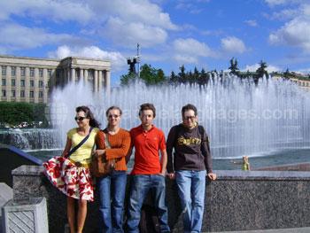 Schüler bei einem Ausflug