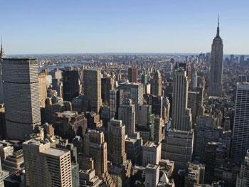 New York aus der Vogelperspektive