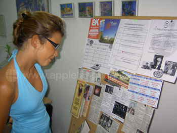 Checking out the activities board
