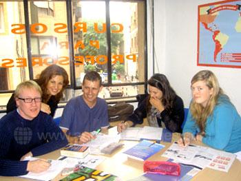 Spanish class with teacher