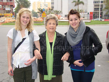 Students with Host Mother