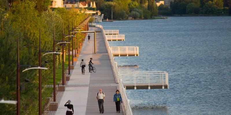 Promenade in Vichy, Frankreich