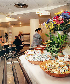 Cafeteria des Wohnheims