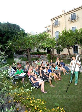 Italienischstunde im Garten
