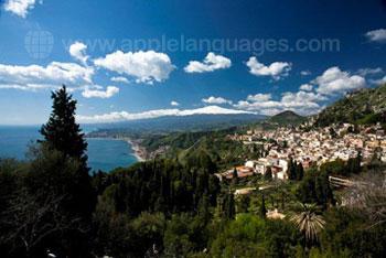 Der Blick über das wunderschöne Taormina