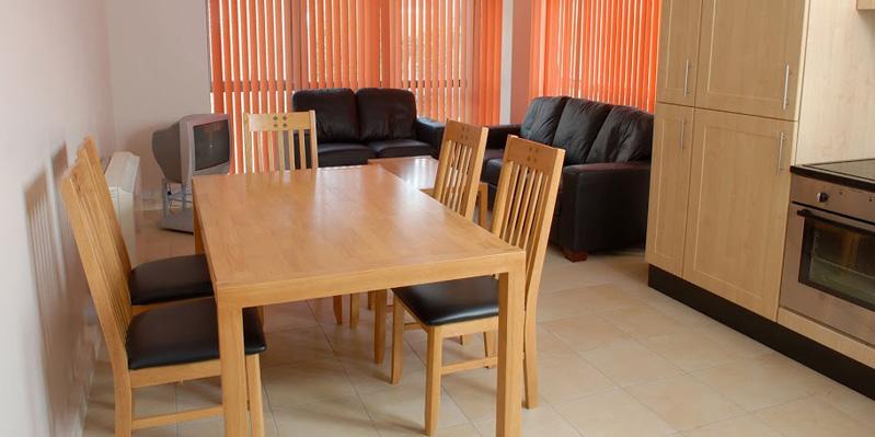 Wohnzimmer in Universitätswohnheim