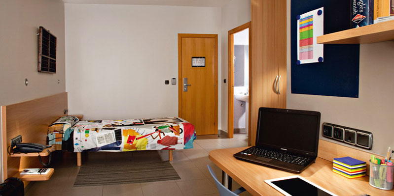 Zimmer im Studierendenwohnheim