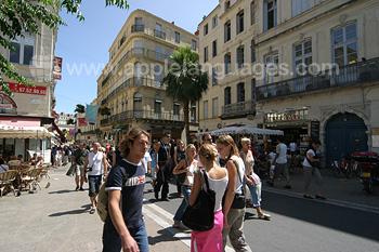 Straßenbild Montpelliers