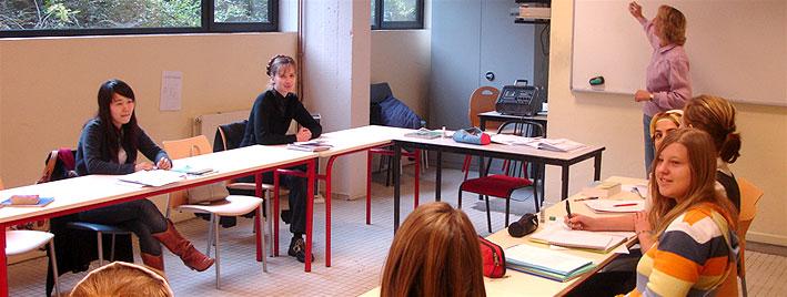 Französisches Klassenzimmer in Annecy