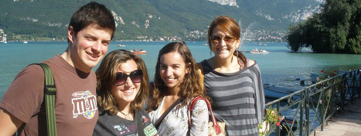 Sprachschüler am Lac d'Annecy
