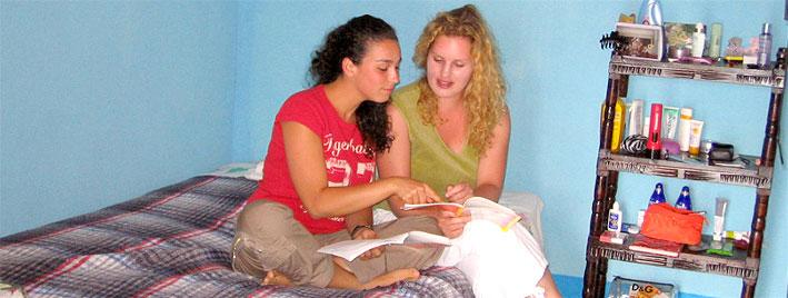 Sprachschüler in der Unterkunft