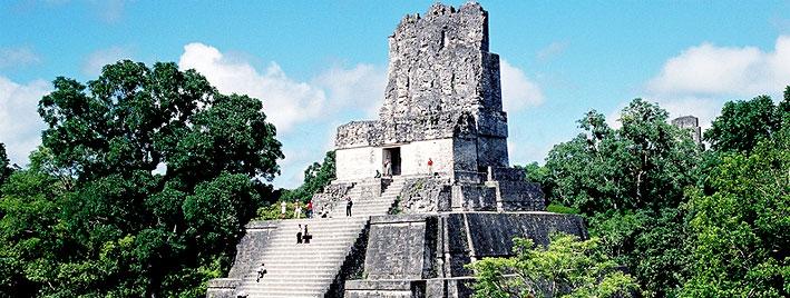 Mayapyramide in Antigua, Guatemala