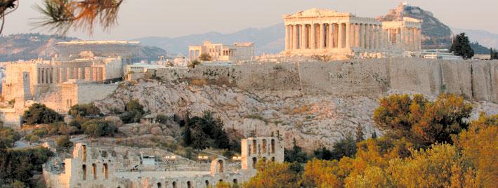 Blick auf das Parthenon in Athen