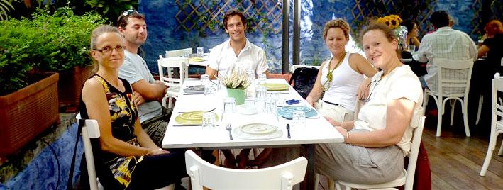 Abendessen in Athen, Griechenland