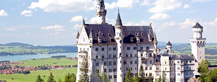 Schloss Neuschwanstein in der Nähe von Augsburg