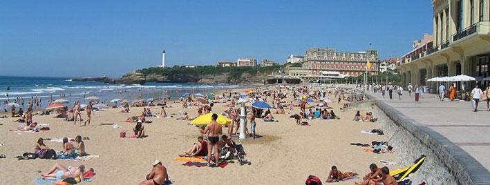 Promenade und Strand in Biarritz
