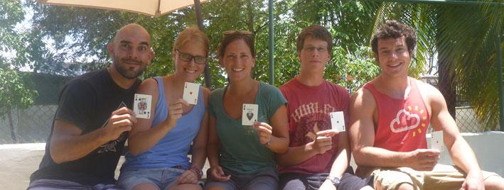 Kartenspiele in Bocas del Toro