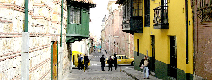 Alte Straße in Bogota