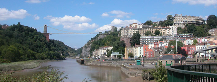Die Clifton Suspension Bridge, Bristol