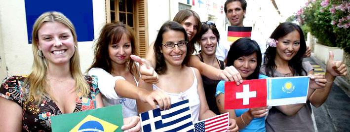 Sprachschüler lernen Französische in Cannes