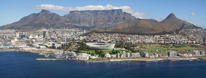 Luftbild von Kapstadt