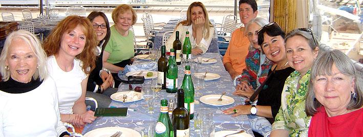 Ältere Sprachschüler in Sorrent